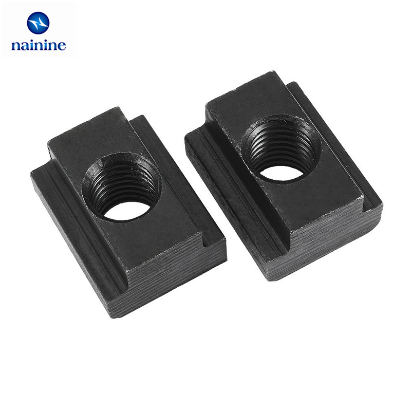 5Pcs M5 M6 M8 M10 M12 M14 DIN508 Black Oxide Finish Grade 8.8 Carbon Steel T-Slot Nut Tapped Through Slot T-nuts Furniture HW113 пати бум набор стаканов волшебные питомцы 200 мл 6 шт