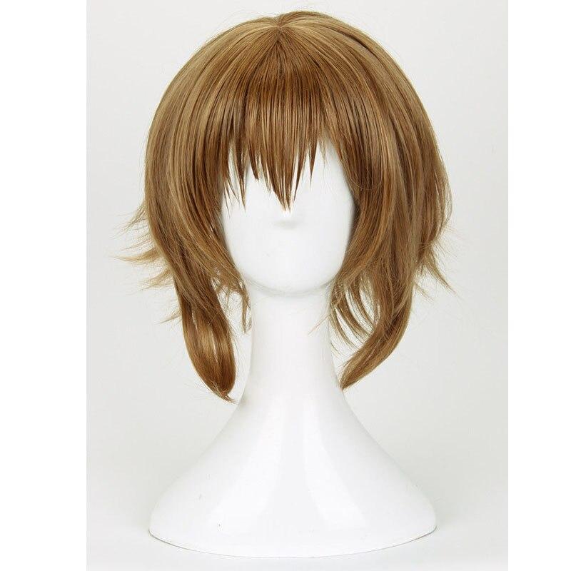 Tokyo Ghoul Fueguchi Hinami Wig Styled Short Straight Brown Anime Cosplay Wig + Wig Cap