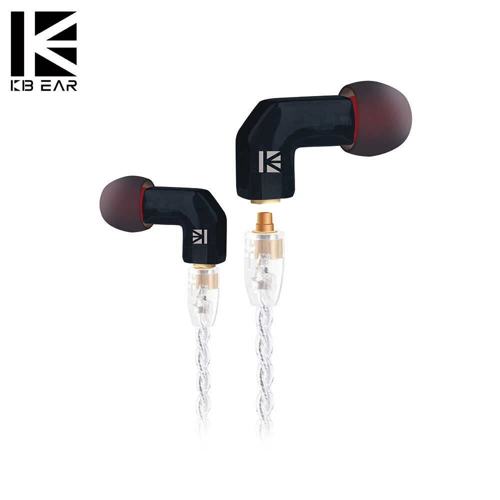 KBEAR F1 Balanced Armature Customer HIFI Sport Monitor In Ear Earphone With 3.5MMCX Gold Plated Headset Metal Plated LOGO Earbud