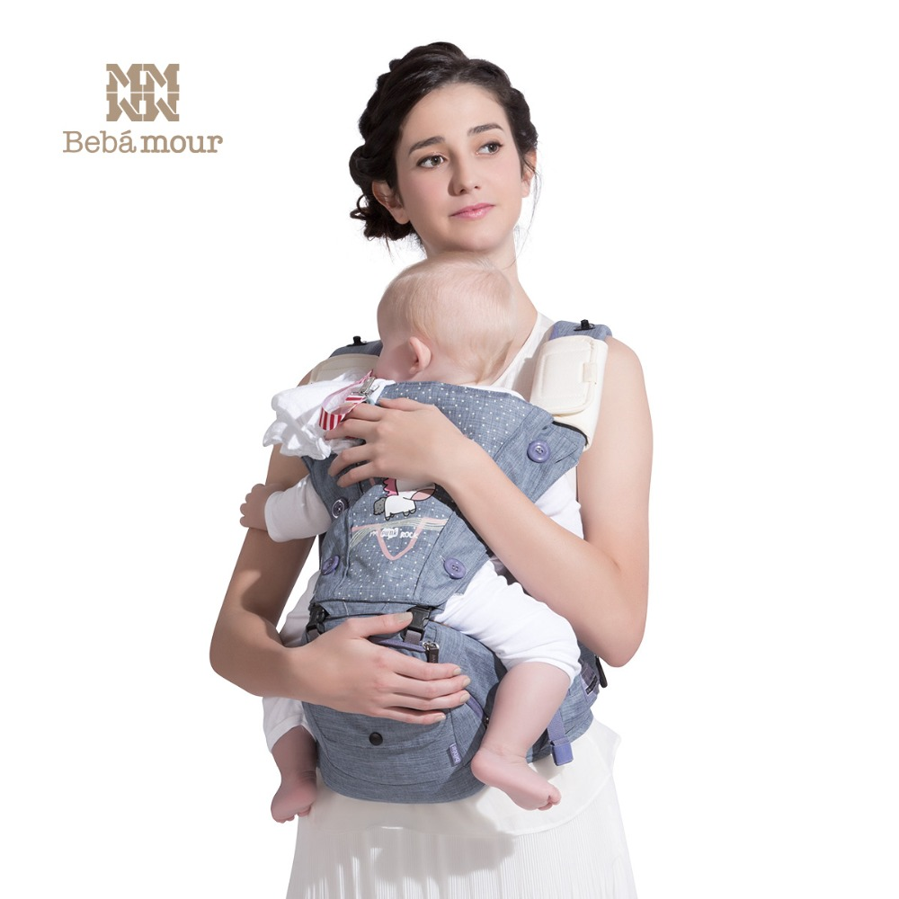 Bebear porte-bébé C18 écharpe porte-bébé ceinture ergonomique bébé 0-30 mois 4 en 1 infantile confortable sac à dos à bandoulière siège de hanche
