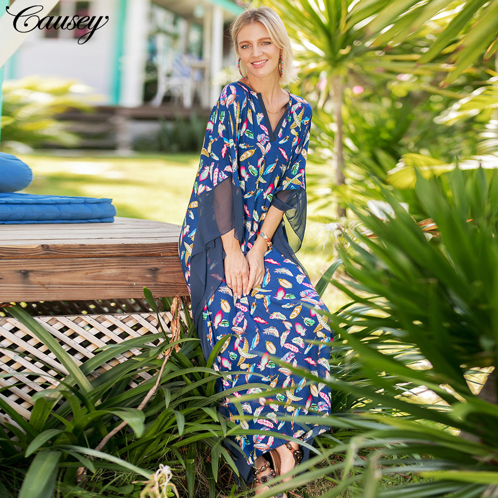 Robe De Plage Women Beach Sarong Summer Dress Bath Mat Sundress Pareo Cover Up Dresses 2018 New Print Acetate Sierra Surfer