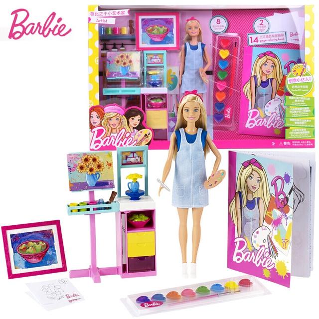Satilik Orijinal Barbie Bebek Seti Hediye Kutusu Kucuk Sanatci