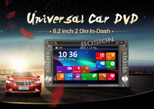 Double 2 Din 6.2 inch Universal Car DVD CD Player Bluetooth FM Transmitter Radio Tuner Touch Screen gps USB Detect Track For VW