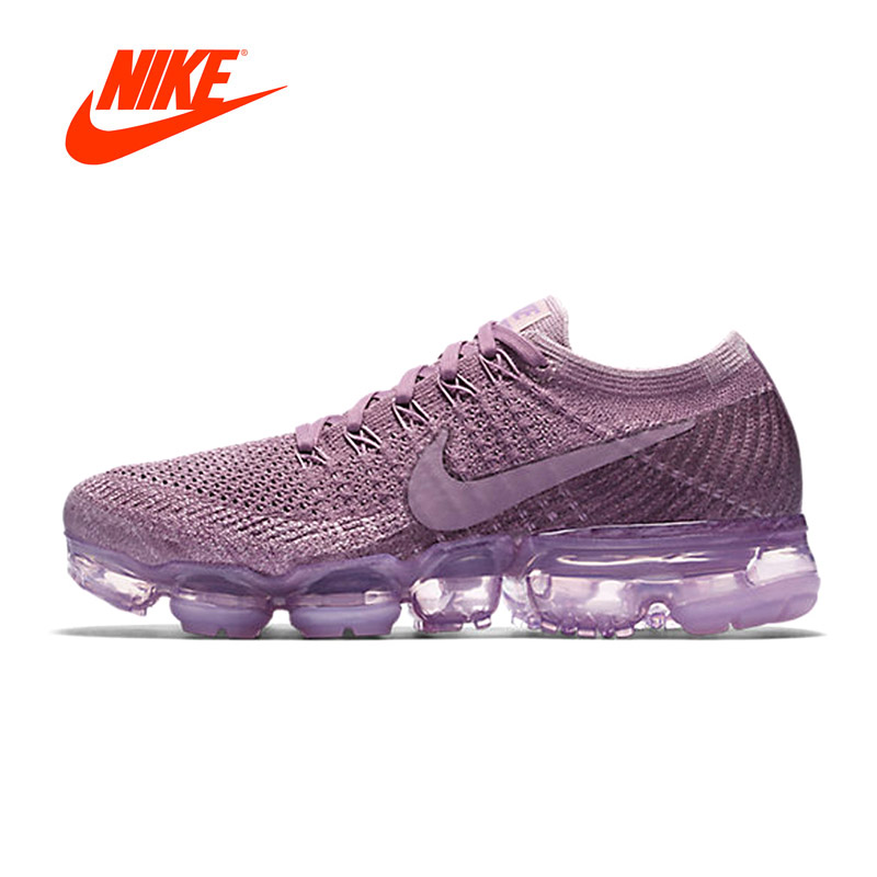 Original New Arrival Authentic Nike Air VaporMax Flyknit Women's Breathable Running Shoes Sport Outdoor Sneakers 849557-500