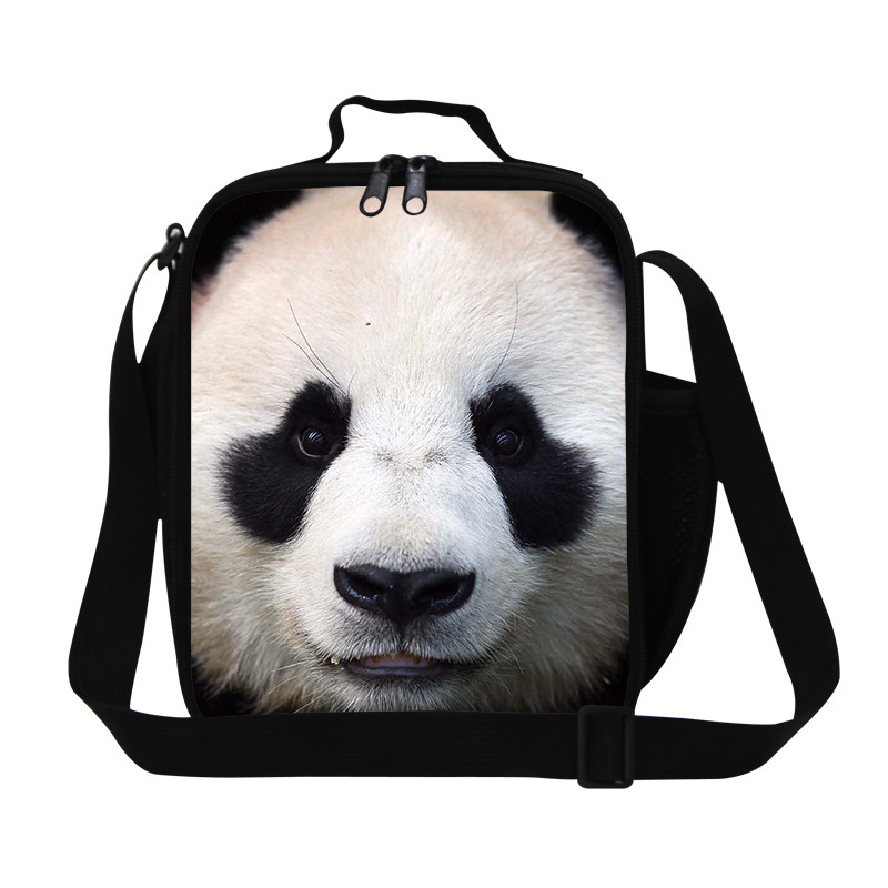 panda New Insulated Children Zoo Animal Lunch Bag Tote Cat Print Lunchbags Thermal Lunch bag Kids Outdoor Lunch Box Lancheira Termica