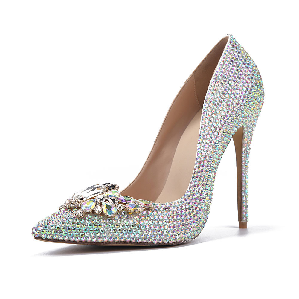 Rhinestone Wedding Heels: New Arrival Women's Rhinestone Pointed Toe High Heels