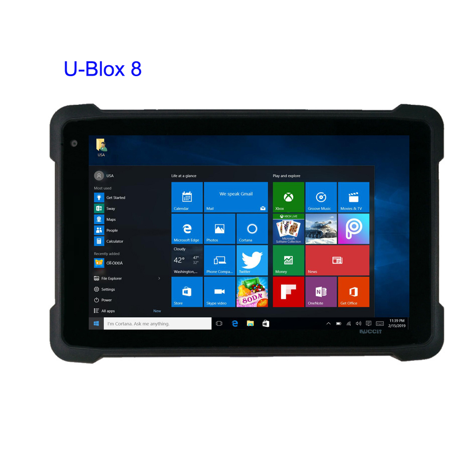 2019 China K81H Windows 10 home Waterproof Tablet PC 8 inch UBlox M8 GPS  GNSS Mapping High Precision Glonass Gps 3G HDMI WIFI