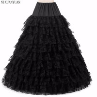 2019 New Lace Petticoat Crinoline Slip 8 Layer Lace Skirt Underskirt For Wedding Dress Bridal Gown In Stock