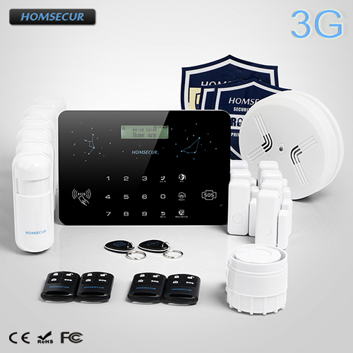 HOMSECUR Wireless LCD 3G GSM PSTN Home Security font b Alarm b font System 6 PIR