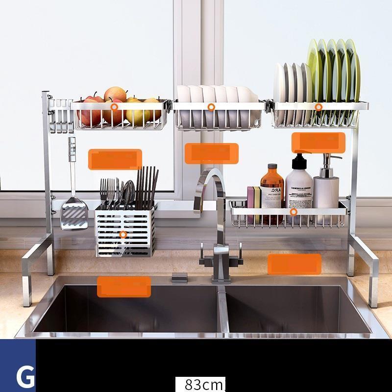 Cosinha Mutfak Malzemeleri อุปกรณ์ Egouttoir Vaisselle สแตนเลส Cozinha Cuisine Organizador Cocina Kitchen Organizer-ใน ราวและมือจับ จาก บ้านและสวน บน   1