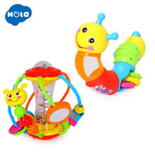 Developmental Baby Rattle Ball Plush Hand Rattles Bell Training Grasping Ability Toy For Baby Toys 0-12 Months Ring Toys cartoon baby plush ball toys colorful softy rattle mobile ring bell toy brinquedos juguetes para bebes jouet wj531