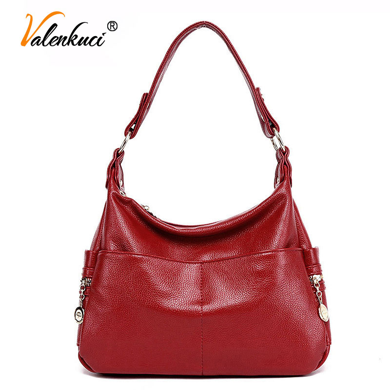Valenkuci Women Handbag Genuine Leather Bag for Women Messenger Bags Designer Crossbody Bag Women Tote Shoulder Bag bolsa SD-805