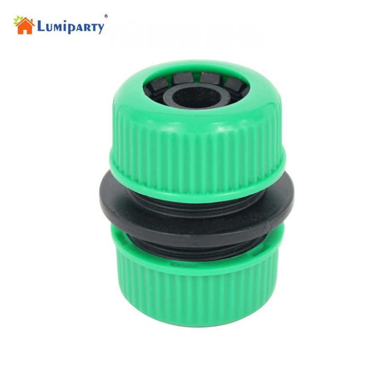LumiParty 1/2 Garden Hose Extension Joint Hose Quick Repair Connector  Repair Joint Hose Adapter