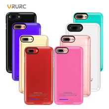 VRURC Multifunction Portable Power Bank For iPhone 6 6S Plus 7 7Plus 8 8Plus Cover Magnetic Removable Phone Stand Battery Case