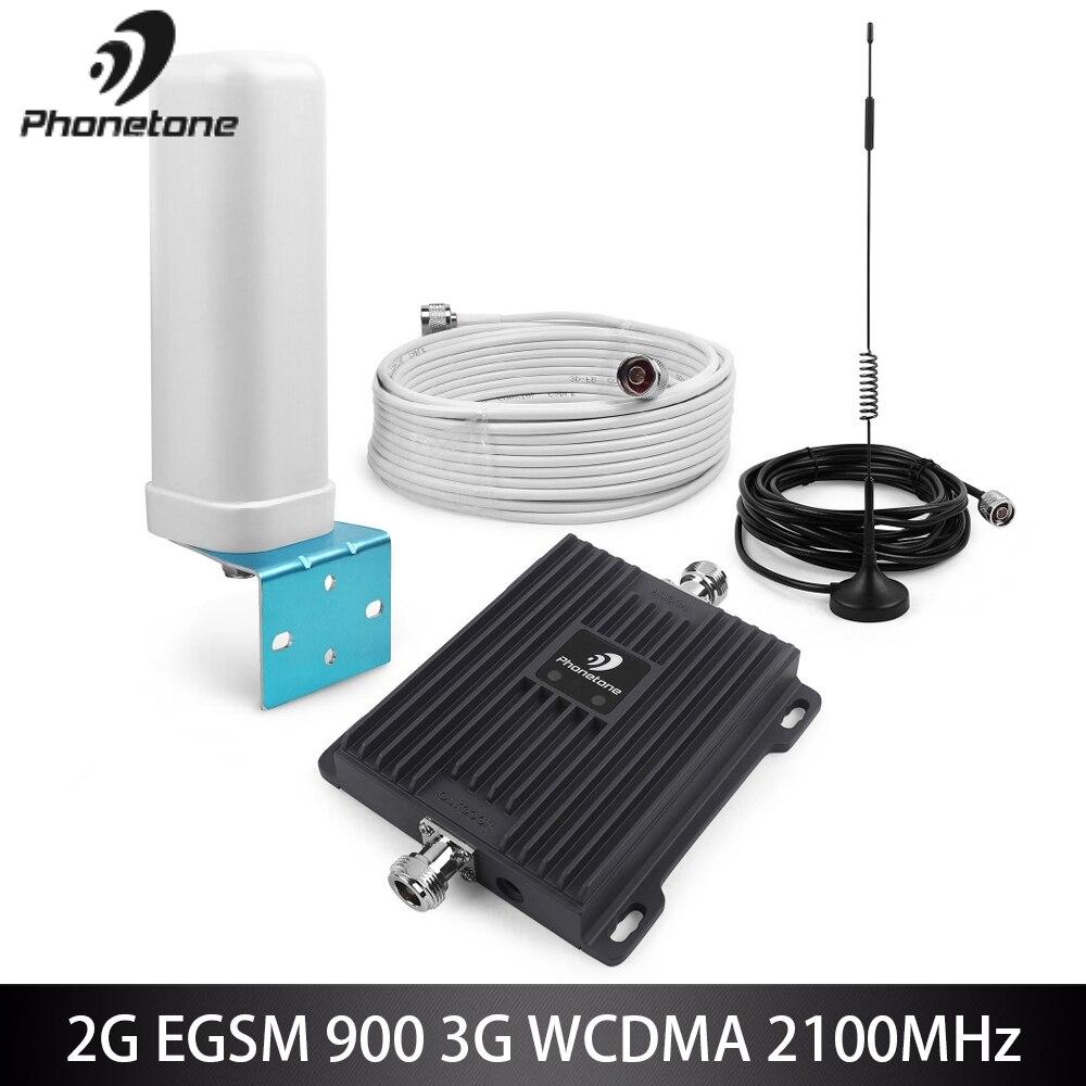 Double bande 900/2100 MHz 2G 3G GSM WCDMA répéteur de Signal de téléphone portable 65dB B8/B1 GSM 3G UMTS Kit d'antenne amplificateur cellulaire Booster