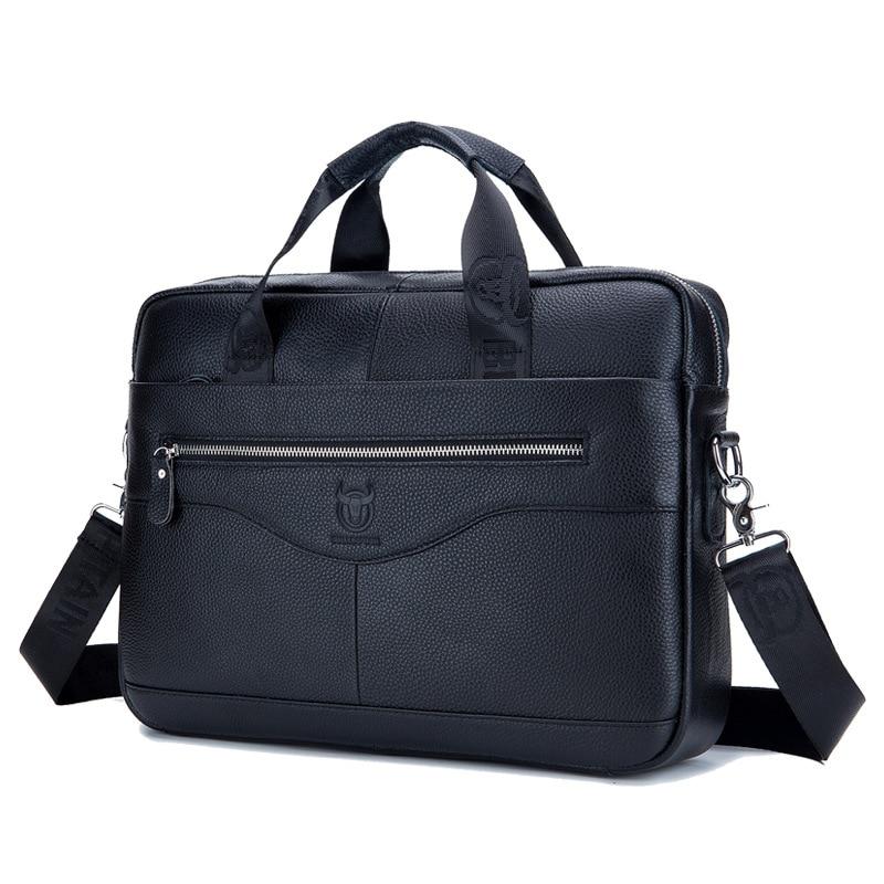 100% Cow Genuine Leather Business New Luxury Men's Briefcase Male Shoulder Bag Real Leather Men Messenger Bag Tote Computer Bag