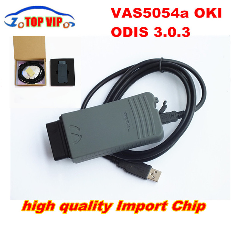 DHL Ship Super Imported Chip VAS5054A Full Chip OBD Diagnostic-Tool ODIS 4.0.0+OKI Chip vas 5054 Bluetooth Support UDS Bluetooth