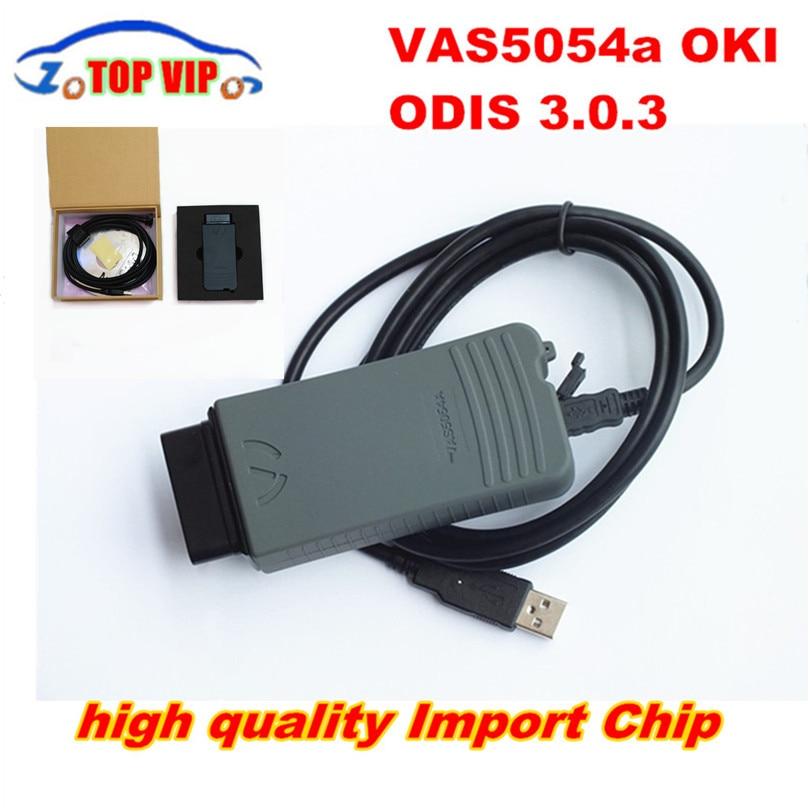 Цена за DHL доставка супер imported чип VAS5054A полный чип OBD диагностический инструмент ODIS 4.0.0 + OKI Chip VAS 5054 Поддержка Bluetooth UDS Bluetooth