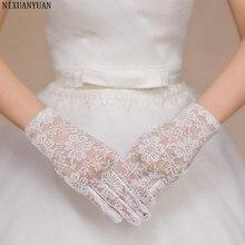 NIXUANYUAN Короткие Свадебные перчатки цвета слоновой кости красный черный палец Свадебные перчатки Guantes de Novia Свадебные аксессуары