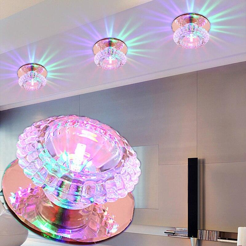 LAIMAIK 3W Crystal LED Ceiling Light AC90-260V Luxury LED Ceiling Light Modern Ceiling Led Lights for Home Crystal Ceiling Light