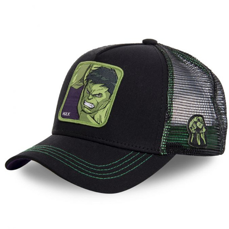 Marvel Superhero HULK Snapback   Cap   Cotton   Baseball     Cap   Men Women Hip Hop Dad Hat Trucker Mesh Hat Dropshipping