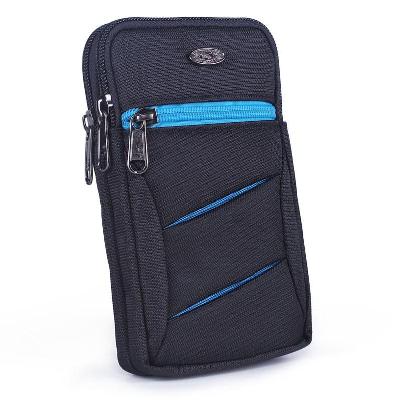 Men Nylon Small Cross Body Shoulder Bags Belt Waist Pack High Quality Hook Unisex Fanny Cell Mobile Phone Case Cover Bag