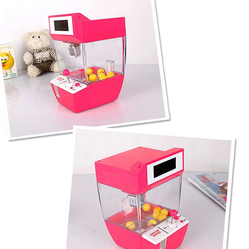 Mini Candy Grabber Catcher Crane Lazy Person Alarm Clock Machine Jamma Arcade Sanwa Practical Board Games Children Gifts in Coin Operated Games from Sports Entertainment