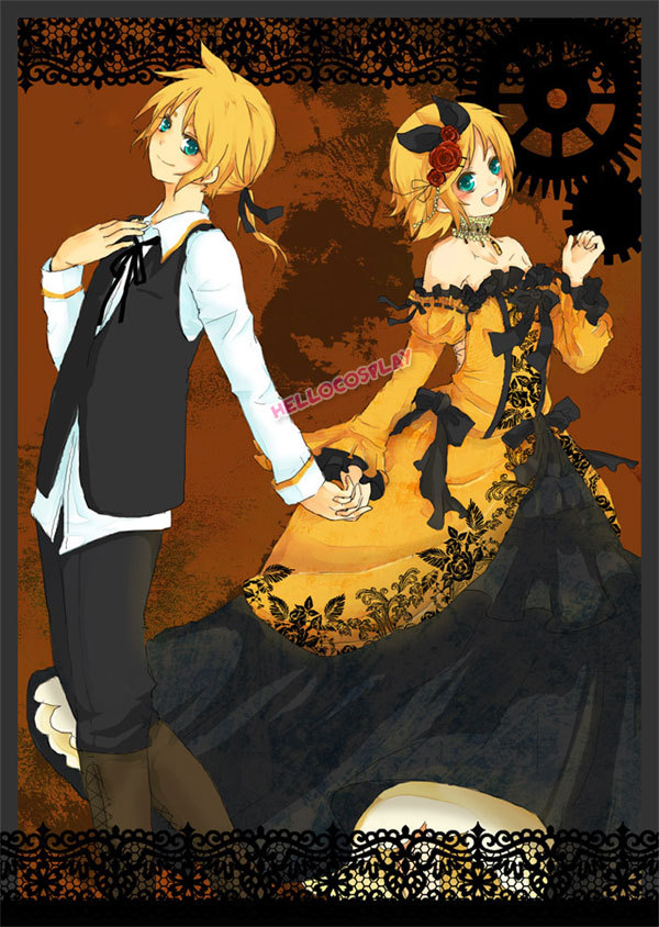 Vocaloid 2 Cosplay Kagamine Rin Dress Daughter of Evil H008