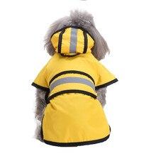 XS-4XL дождевик для собак, уличный защитный дождевик для собак, водонепроницаемый плащ с капюшоном, куртка, летняя одежда для собак, Прямая поставка 40AT15