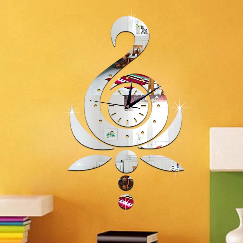 3 D sitting room bedroom wall clock Crystal three dimensional ...