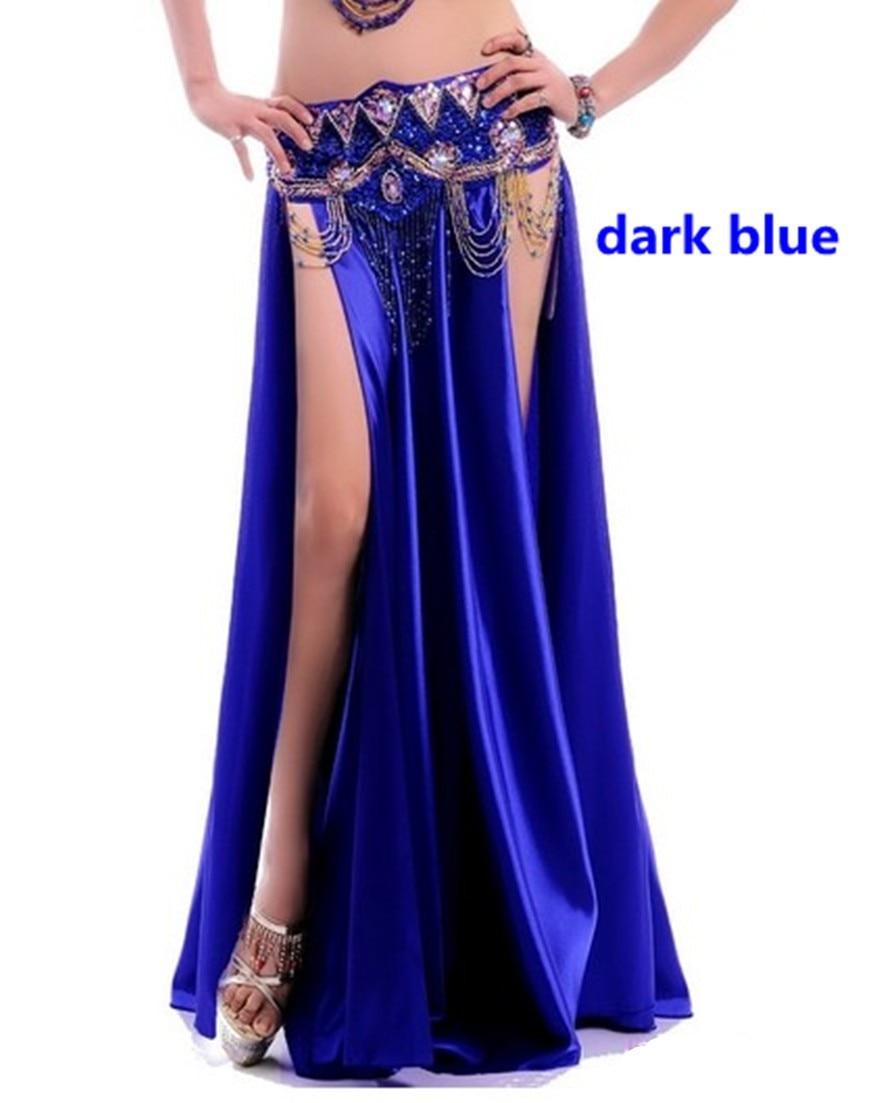 NEW Sexy Belly Dance Costume Saint Skirt 2 Side Slits Skirt Dress Double Split Skirt 14 Colors (No Belt)
