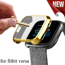 Caixa do Relógio Ultra-fino Suave TPU Silicone Para fitbit banda versa All-inclusive caso protetor Acessórios de Relógio Inteligente