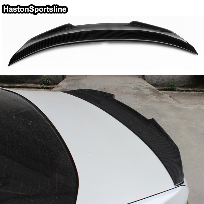 цена на PSM Style F10 M5 Carbon Fiber Car Body kit Trunk Rear lip Spoiler Wing For BMW F10 M5 2011-2016