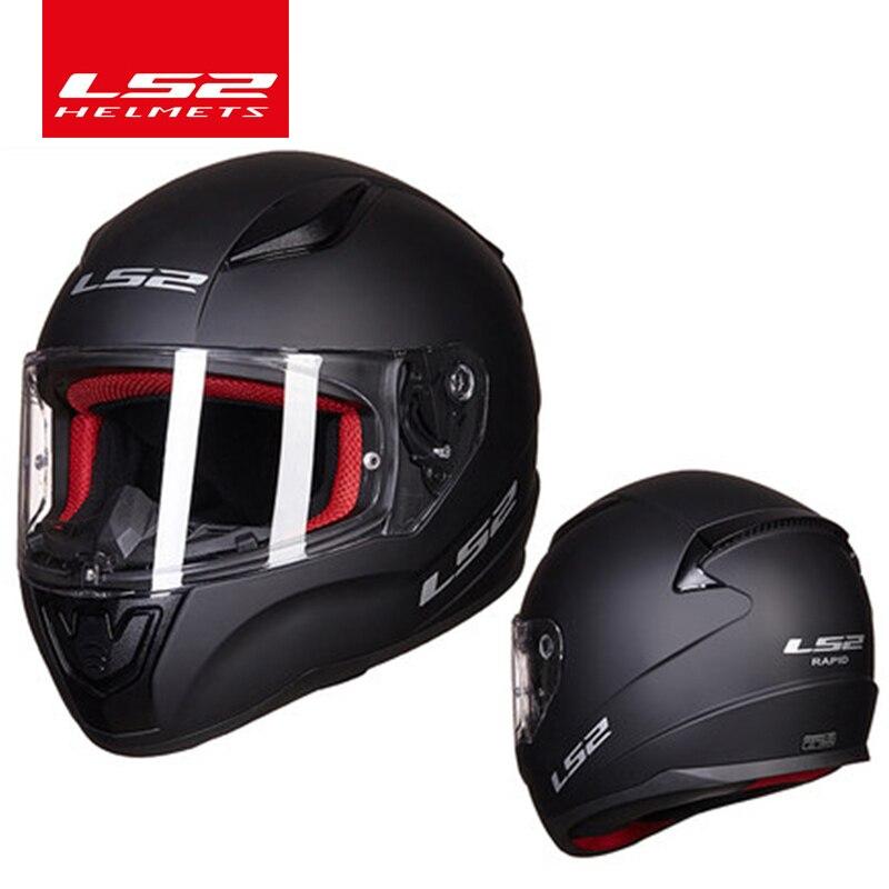 LS2 Magasin Mondial LS2 FF353 plein visage moto rcycle casque ABS sûr structure casque moto capacete ls2 rue RAPIDE racing casques