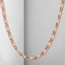 4mm Womens Mens Chain Girls Boys Unisex Snail Link Rose Gold Filled Necklace Wholesale Jewelry GN283(China)