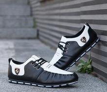 Men Leather Shoes With Ferrari Emblem
