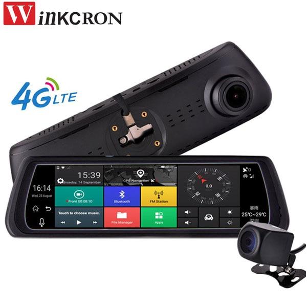 Car DVR Mirror GPS Navigation 8 Touch IPS Special 4G Car DVR Camera Mirror GPS Bluetooth WIFI ADAS Car Assist Lens Dash Cam