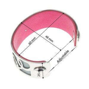 Image 3 - Legenstar 25 millimetri Del Cerchio di Personalità Bracciali e Braccialetti per i Monili Delle Donne In Acciaio Inox Argent Wrap Braccialetto di Cuoio Pulseiras