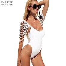 Новое поступление сексуальное модное элегантное, с рукавом до локтя в полоску благодаря открытому силуэту V образным вырезом костюм с бандажом пляжная одежда с открытой спиной