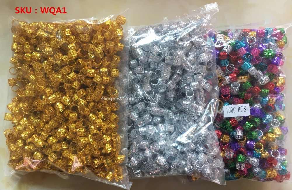 1000 шт/партия Золотые/серебряные/разноцветные косички для волос бусины для дредов регулируемые манжеты клипсы микро кольца аксессуары оптом