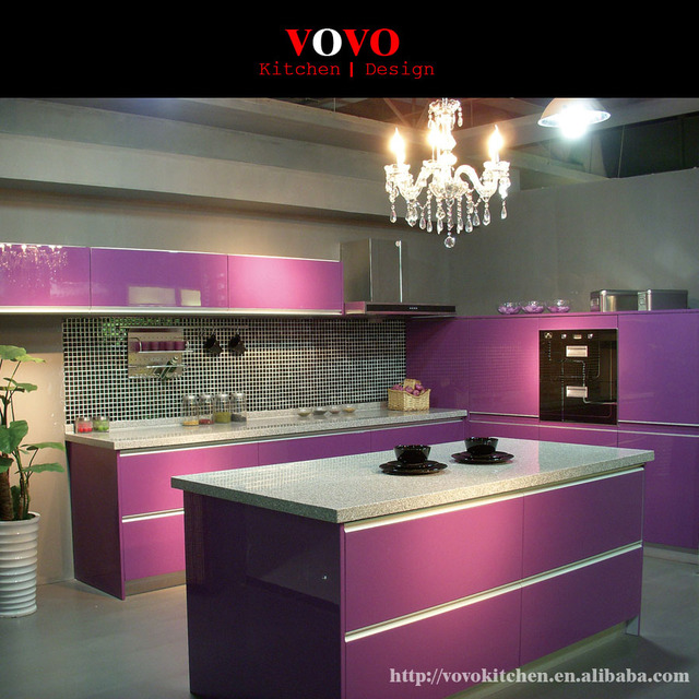 Küchenschrank in hochglanz lila lack in Küchenschrank in hochglanz ...