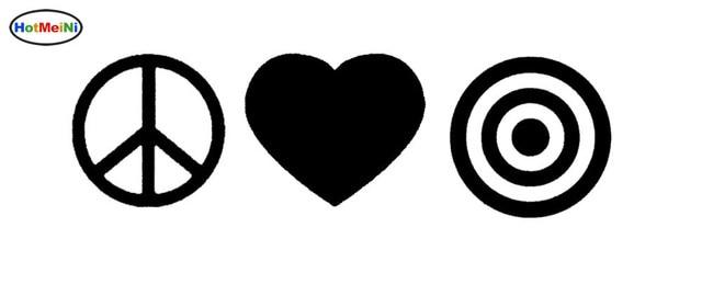 Hotmeini peace love bullseye abstract graphics art sticker for car hotmeini peace love bullseye abstract graphics art sticker for car window truck bumper door kayak vinyl altavistaventures Image collections