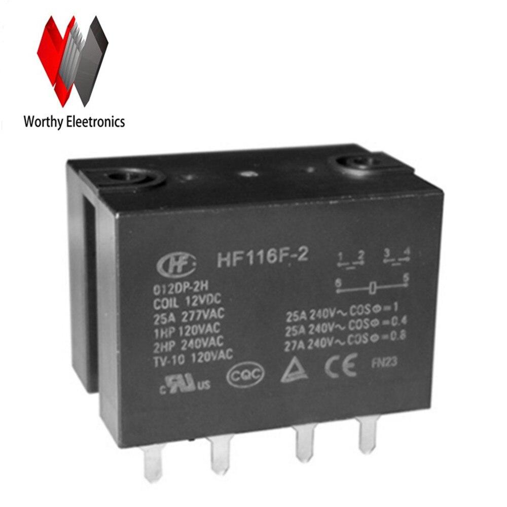 wholesale 10pcs/lot relay HF116F-2-012DP-2H интегральная микросхема n a upd8279c 2 d8279c 2 d8279c upd8729 40 rohs 10pcs lot d8279c 2