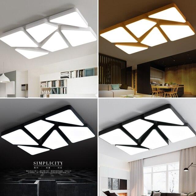 Nuevo dise o moderno rect ngulo luces de techo led l mpara de sal n dormitorio lamparas de techo - Lamparas dormitorios modernos ...