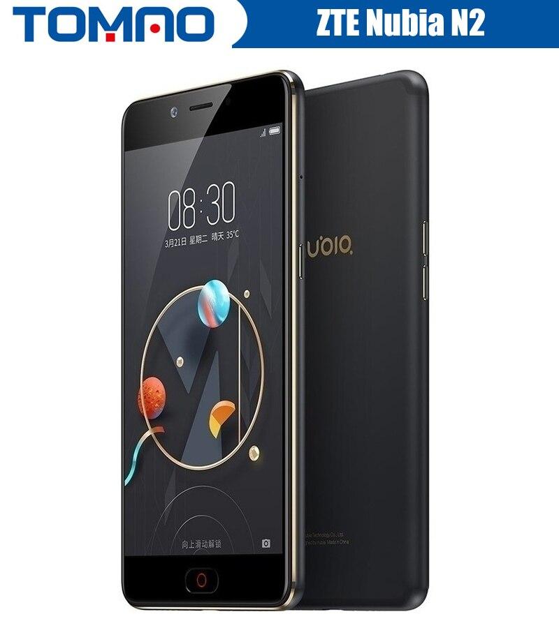 bilder für Original 5,5 zoll Nubia N2 4G LTE Handy MT6750 Octa Core Vorderes 16.MP Hinten 13.0MP 5000 mAh Fingerabdruck ID