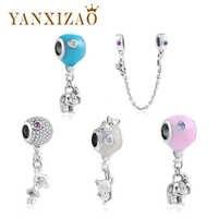 Yanxizao 2018 Neue Fit Pandora Charme Perlen Armbänder 925 Silber Perlen Sicherheit Kette Tier Diy Anhänger Perlen Perles Pendentif