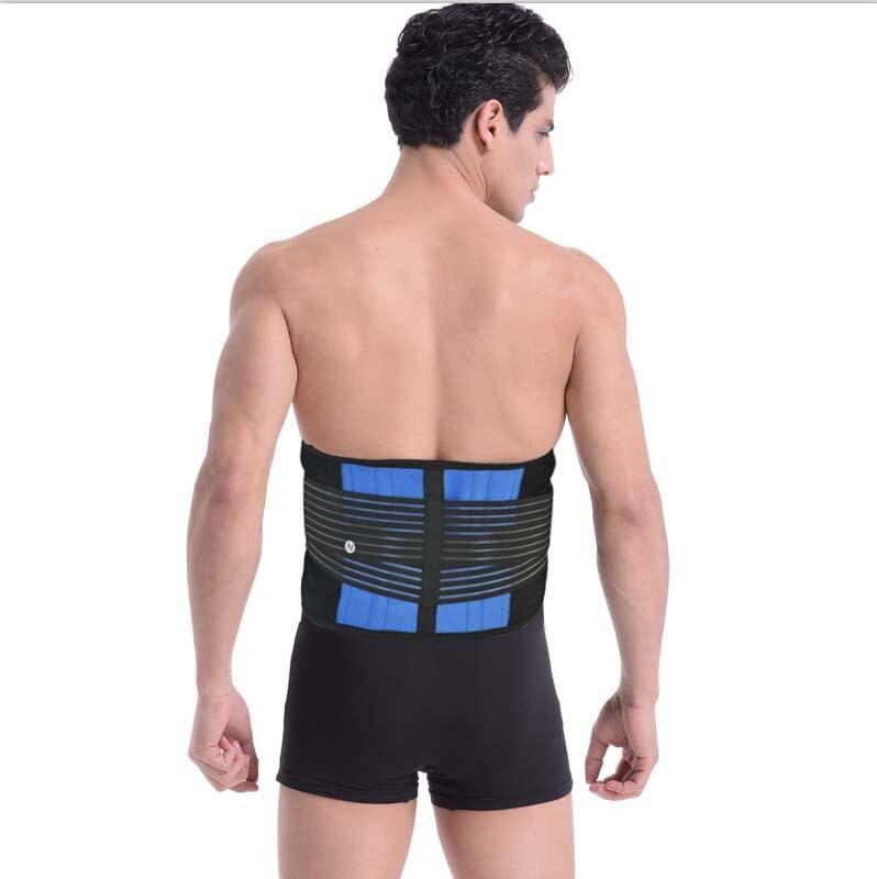 Prix pour Lombaire Retour Soutien Hommes Corset Médical Soulagement de La Douleur Bande Taille 4 Flexible Support En Acier Votre Taille Gym Sports Accessoires Y010