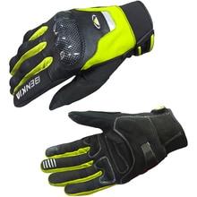 BENKIA Сенсорный Экран Перчатки Мотоцикла Moto Luvas Защитные Гоночные Перчатки Из Углеродного Волокна Защиты, зеленый/Красный/Черный