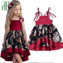 купить Toddler Girls Summer Dress Floral Printed Princess Party Mini Sleeveless Beach Dress Kids clothes Costume Girls Frocks Sundress по цене 520.4 рублей