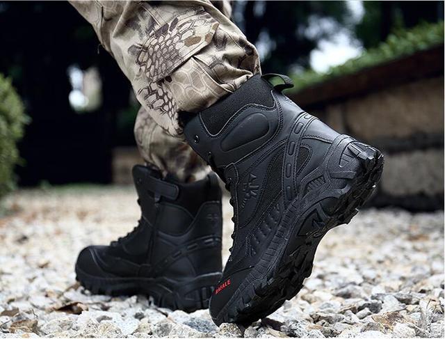Zapatos de montar en motocicleta para hombre impermeable Primavera anti caída de los Caballeros botas de carreras de campo cruzado botas de locomotora